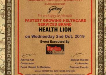 Healthlion – Fastest Growing Healthcare Service Brand 2019